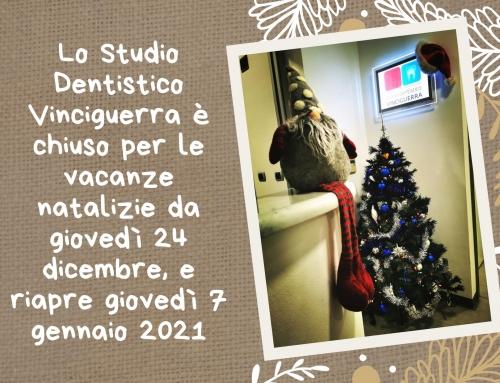 Chiusura dello studio per le feste natalizie
